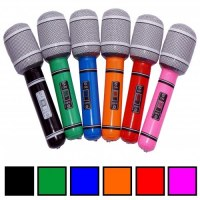 Mikrofon aufblasbar, frbl. sort. a 24cm