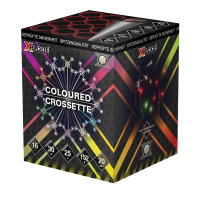 Coloured Crossette, 16-Schuss Batterie