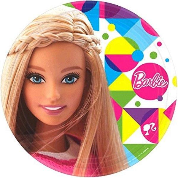 Amscan Pappteller, Barbie Motiv, 8er Pack