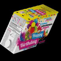 Happy Birthday, 12-Schuss Luftschlangen-Batterie, T1